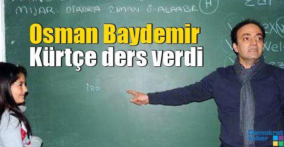 Osman Baydemir Kürtçe ders verdi