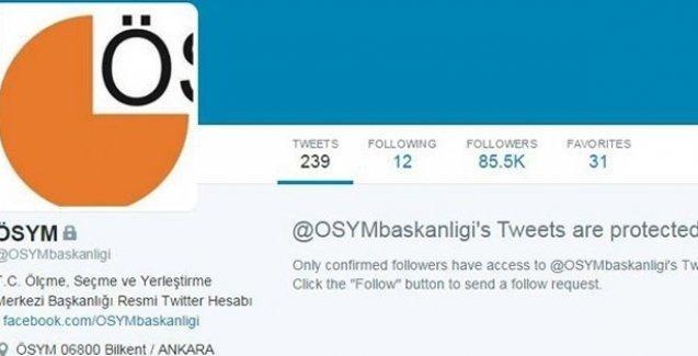 ÖSYM sosyal medyada takipçilerini yine engelledi!