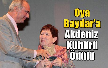 Oya Baydar'a Akdeniz Kültürü Edebiyat Ödülü