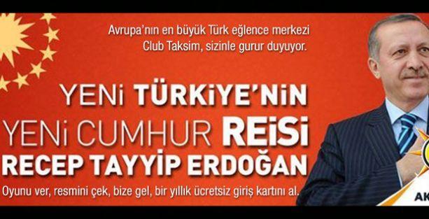 'Oyunu Erdoğan'a ver, resmini çek, gece kulübünde bir yıllık üyeliği kap!'
