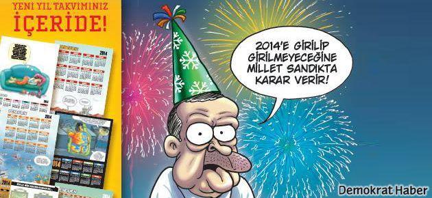 Penguen yeni yıla Erdoğan'la giriyor