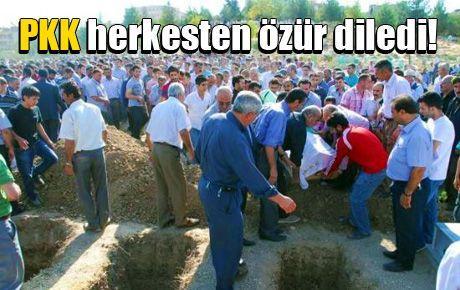 PKK herkesten özür diledi!