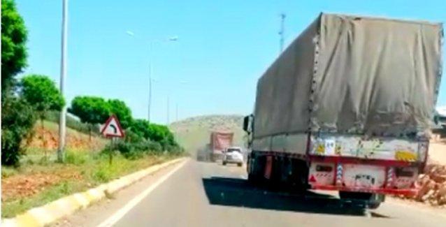'Plakasız TIR'lar Suriye sınırına gidiyor'