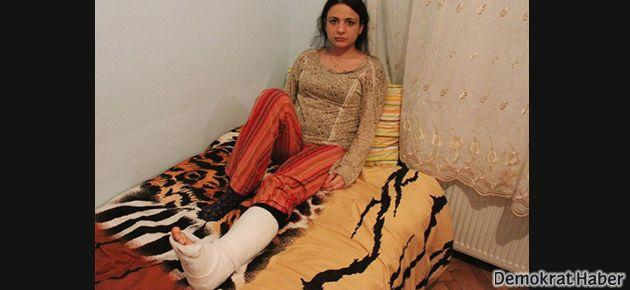 Polis, Dilan'a önce saldırdı ardından da Akrep'le ezdi
