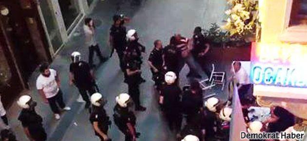 Polis ocakbaşındakileri de tartakladı, gözaltına aldı