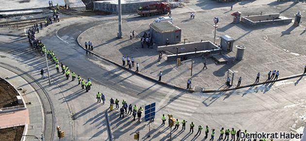 Polis Taksim'i yaya ve araç trafiğine kapattı!