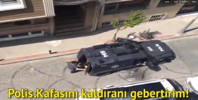 Polisten Şişli Kurtuluş'ta mahalleliye tehdit: 'Kafasını kaldıranı gebertirim!'