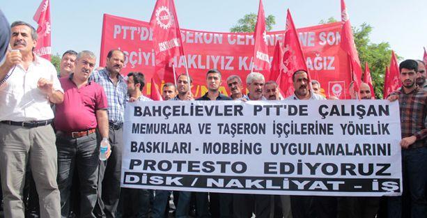 PTT işçilerine yapılan baskılar protesto edildi
