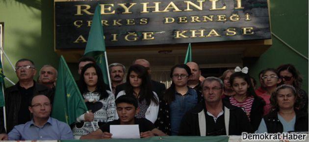 Reyhanlı'daki Çerkesler'den Rusya protestosu