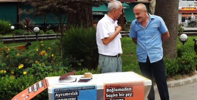 Rize'de Demirtaş standında saldırıya uğrayan öğretmen HDP adayı