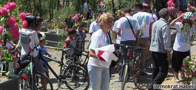 Roboski'ye bisikletli destek