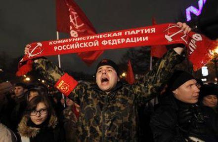 Rusya'da Komünistler 'devrim' istedi