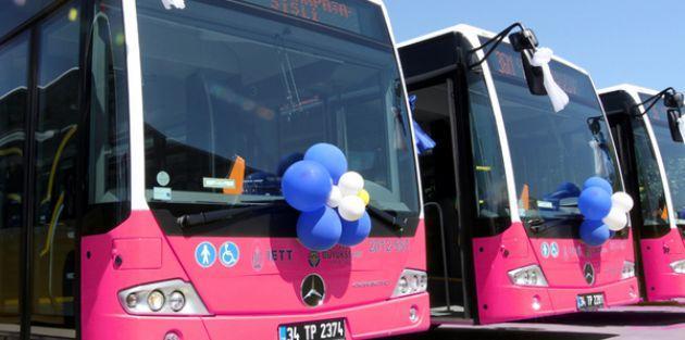 Saadet Partili kadınlardan 'Kadınlara özel pembe metrobüs' eylemi