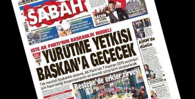 Sabah: Başkanlık sistemi AKP'nin seçim beyannamesine girecek