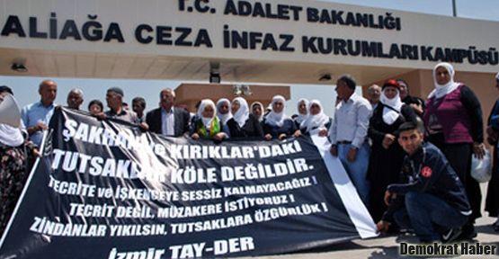 Şakran Cezaevi önünde protesto