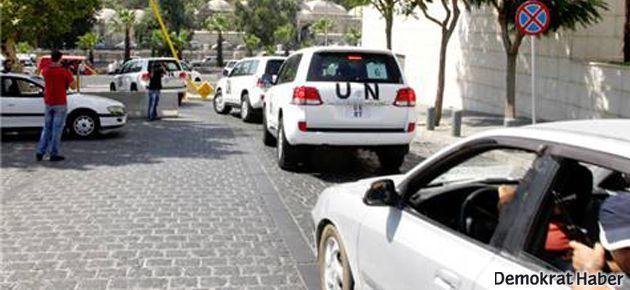 Şam'da BM konvoyuna silahlı saldırı