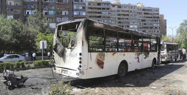 Şam'da Şii hacıları taşıyan otobüse bombalı saldırı
