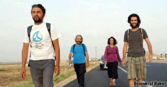Savda'nın barış yürüyüşüne polis engeli