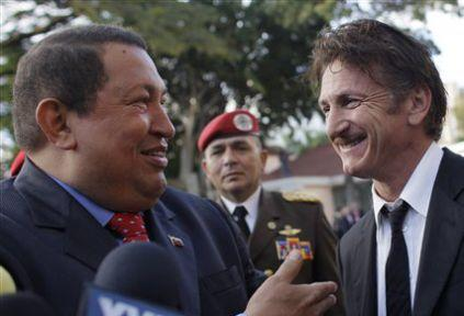 Sean Penn, Hugo Chavez ile görüştü