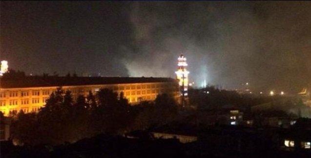 Selimiye Kışlası'nda yangın
