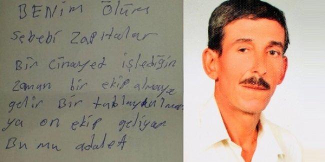 Seyyar satıcı, 'Ölüm sebebim zabıtalar' notu bıraktı, kendini astı