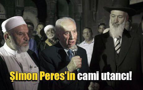 Şimon Peres'in cami utancı!