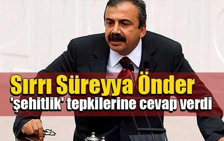 Sırrı Süreyya 'şehitlik' tepkilerine cevap verdi