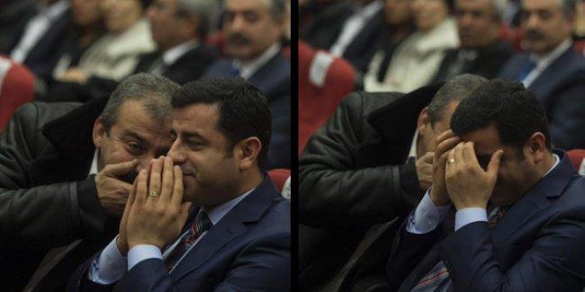 Sırrı Süreyya ve Demirtaş'ın o anı caps oldu: 'Başkan olacağım diyormuş..'