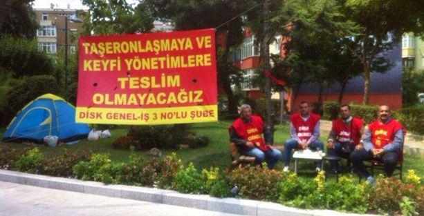 Şişli Belediyesi işçileri taşerona karşı açlık grevinde