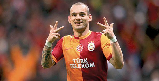 Sneijder futbolu Galatasaray'da bırakacak
