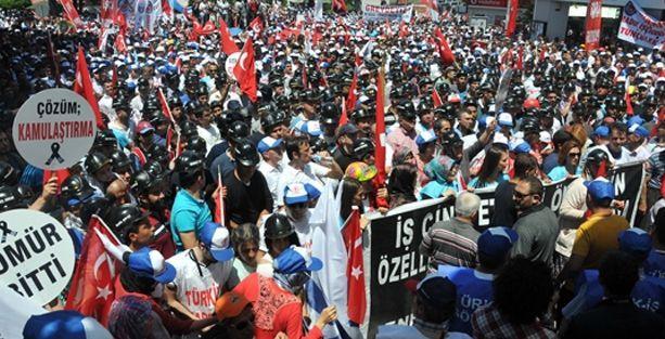 Soma'da binler özelleştirme ve ölüme dur dedi