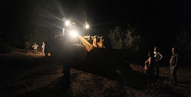 Soma'da halk termik santrale karşı zeytinlik nöbetinde