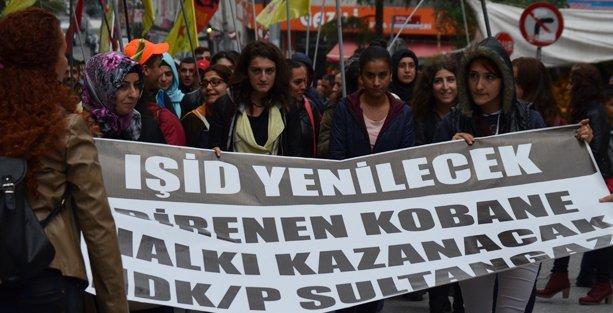 Sultangazi'de Kobani eylemi