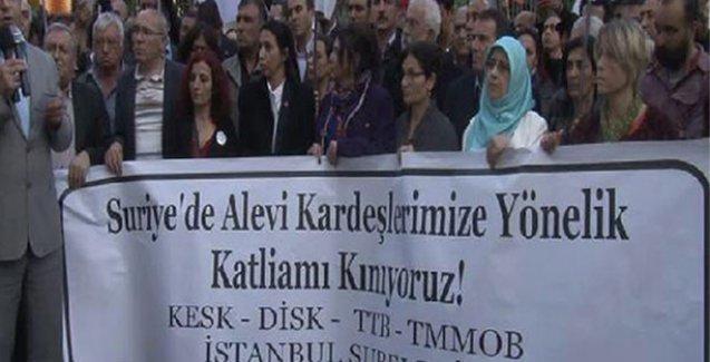 Suriye'deki Alevi katliamı Beyoğlu'nda protesto edildi