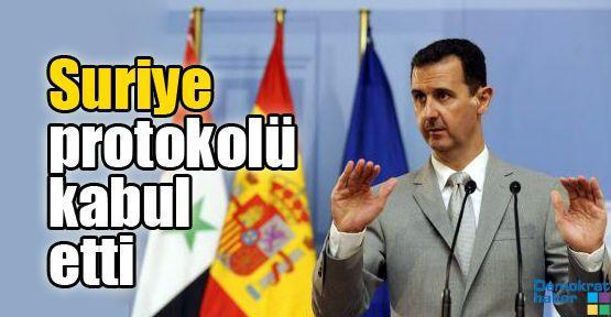 Suriye protokolü kabul etti