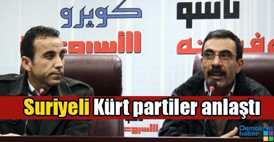 Suriyeli Kürt partiler anlaştı