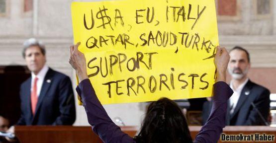 Suriye'nin Dostları toplantısında 'terörist' protestosu