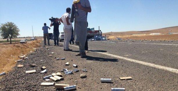 Suruç'ta gazetecilerin aracına polisten gaz bombası!