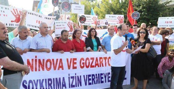 Süryaniler İstanbul'da IŞİD saldırılarını protesto etti