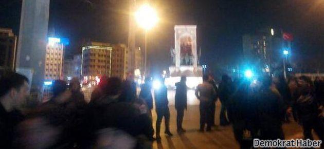 Taksim'de internete sansür protestosuna müdahale