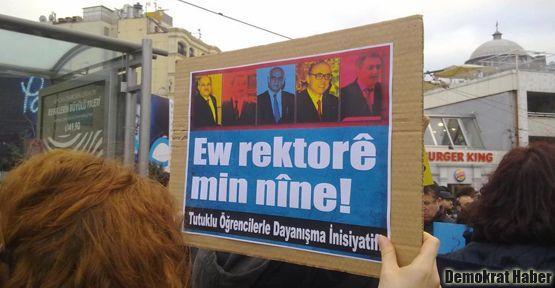 Taksim'de ODTÜ'ye destek yürüyüşü yapıldı
