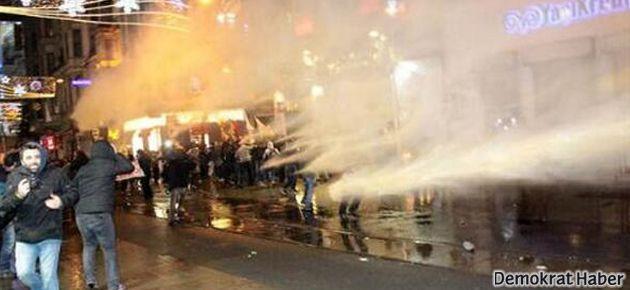 Taksim'de polis müdahalesi!