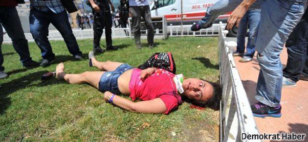 Taksim'de turist kadın yaralandı!