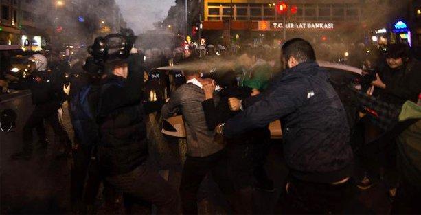 Halk Cephesi'nin Kobani eylemine polis saldırısı