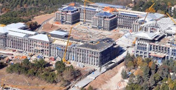Tamamlanmak üzere olan Başbakanlık binasına bir red daha
