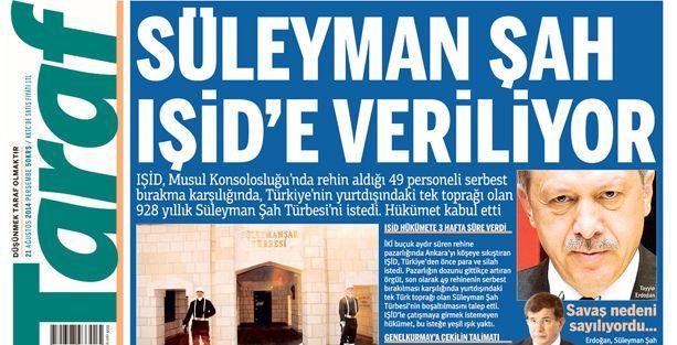 Taraf'tan sarsıcı iddia: Türkiye IŞİD'e toprak vermeyi kabul etti