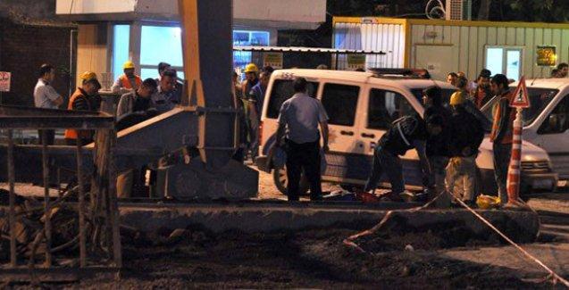 Temeli dün atılan Metro inşaatında iş cinayeti