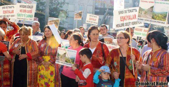 Tokatlılar Taksim'de yürüyüş düzenledi