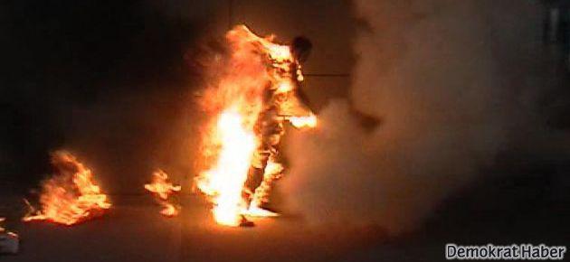 Trabzon'da bir işçi kendini ateşe verdi…