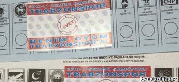 Trabzonspor taraftarından sandıkta şike tepkisi